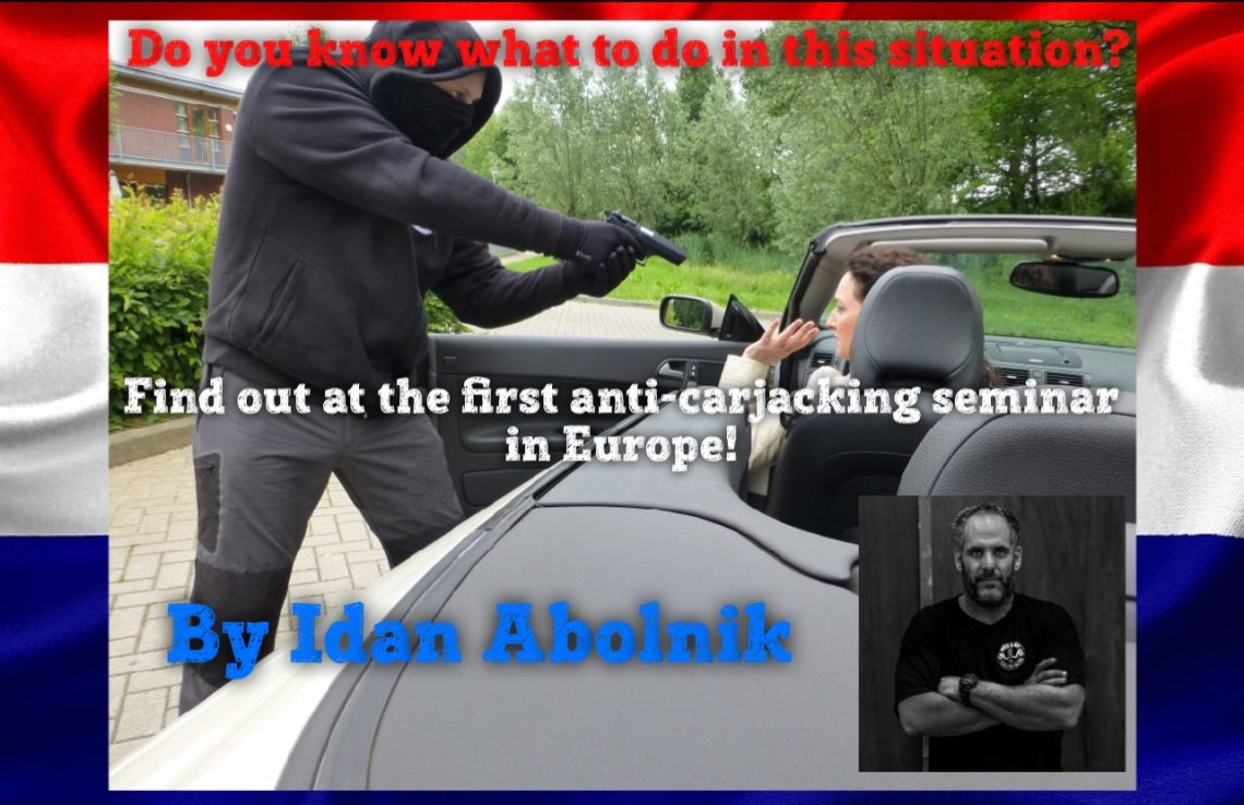 Eerste anti-carjacking seminar van Idan Abolnik in Europa